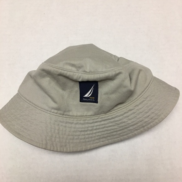 e0d8cbd267961 Nautica spell out logo bucket fishing hat. M 5b7c2c9147736820307de2d2